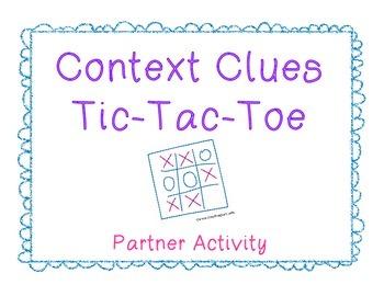 Context Clues Tic-Tac-Toe