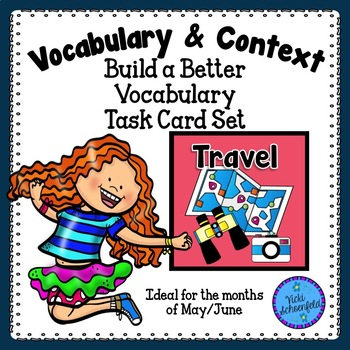 Context Clues Task Cards Travel Themed Vocabulary