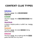 Context Clues Types