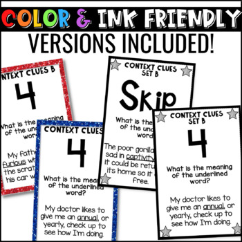 Context Clues Game for Literacy Centers: U-Know {Vocabulary Game Set B}