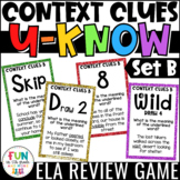 Context Clues Game | U-Know Review Game {Vocabulary Game Set B}