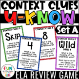 Context Clues Game for Literacy Centers: U-Know | Vocabulary Game {Set A}