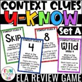Context Clues Game for Literacy Centers: U-Know | Vocabula