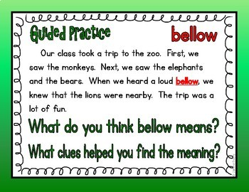 Context Clues:  Using Inference Skills to Expand Vocabulary