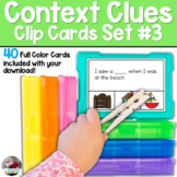 Context Clues Task Cards | SET 3
