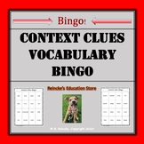Context Clues Vocabulary Bingo (30 pre-made cards!)