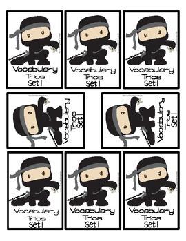 """Context Clues Vocabulary Memory Match Card Game Set 1 """"Ninja"""""""
