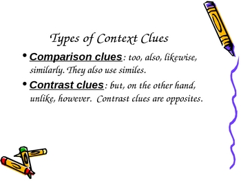 Context Clues Vocabulary Powerpoint