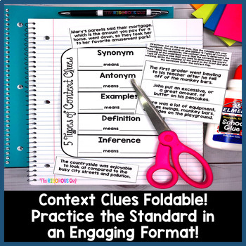 Context Clues Week Long Lessons Common Core Aligned