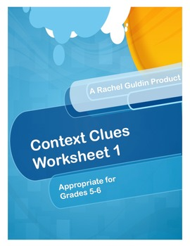 Context Clues Worksheet 1