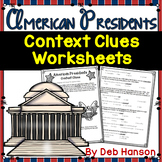 Context Clues Worksheets- American Presidents