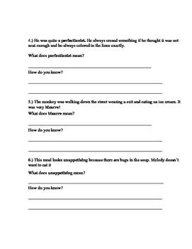 Context Clues Worksheets Bundle