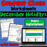 Context Clues Worksheets- Christmas/Hanukkah (test prep)