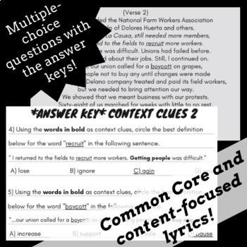 Context Clues Worksheets Multiple Choice: Context Clues Passages & Questions