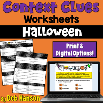 Parent Teacher Conference Worksheets Pdf Context Clues Worksheet Halloween By Deb Hanson  Tpt Comparison And Contrast Worksheets Excel with 12 Times Table Worksheet Pdf Context Clues Worksheet Halloween Writing Equations Worksheet Word