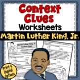 Context Clues Worksheets- Martin Luther King, Jr. (test prep)