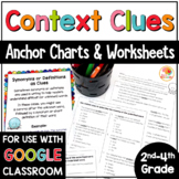 Context Clues Activities, Anchor Charts, & Worksheets for 2nd, 3rd, 4th Grade