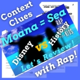 Context Clues Fiction Passage with Questions Using Moana Movie Review Song