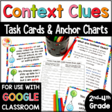 Context Clues Task Cards & Anchor Charts for 2nd, 3rd, & 4th Grade