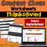 Context Clues Worksheets- Thanksgiving (test prep)