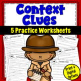 Context Clues Worksheets (focusing on 5 types of clues)