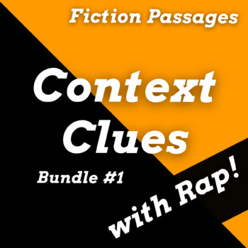 Context Clues Passages and Worksheets for Fiction Texts Using Rap Songs #1