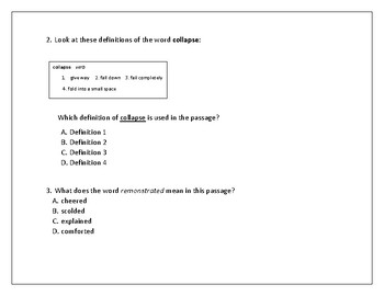 Context Clues and Dictionary Definitions for Test Practice