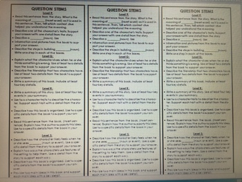 Context Clues and Question Stems Bookmark