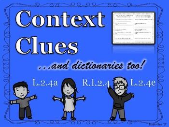 Context Clues and Using a Dictionary No Prep