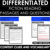 Context Clues and Vocabulary Differentiated Reading Passages and Questions
