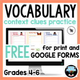 Context Clues Passages for Vocabulary FREE 4th-6th Grade P