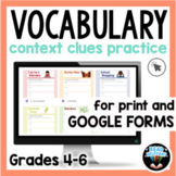 Context Clues and Vocabulary: Passages and Questions for G