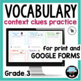 Context Clues and Vocabulary: Google Forms and Print for 3
