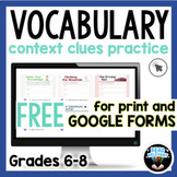 Context Clues Passages for Vocabulary Comprehension : Prin