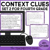 Context Clues Task Cards for 4th Grade Set 2 | Context Clues Center