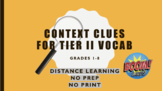 Context Clues for Tier II Vocab BOOM Cards™ Distance Learning