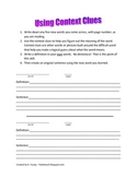 Context Clues for use during Independent Reading or Readin