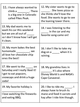 Context Clues - game cards