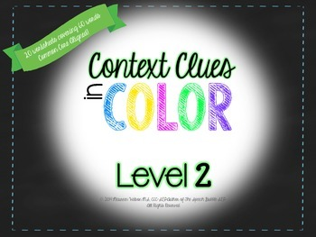 Context Clues in COLOR: Level 2