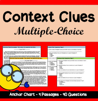 Context Clues in Longer Passages: Multiple-Choice Format