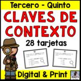 Context Clues in Spanish Task Cards - Claves de contexto