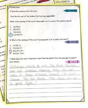 Context Clues in stories- 4th & 5th Grade RL.4.4- RL.5.4