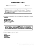 Context Clues questions - Part 1 (Spanish)