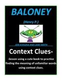 Context Clues with Baloney (Book by Jon Scieszka)