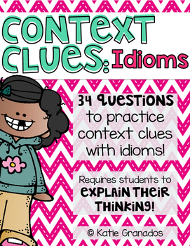 Context Clues with Idioms Printables