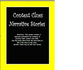 Context Clues with Narrative Stories!