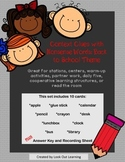 Context Clues with Nonsense Words: Back to School Theme