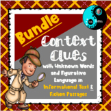Context Clues with Unknown Words and Figurative Language Bundle