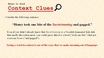 Context Clues Vocabulary Detective: PowerPoint, Worksheets, Exam