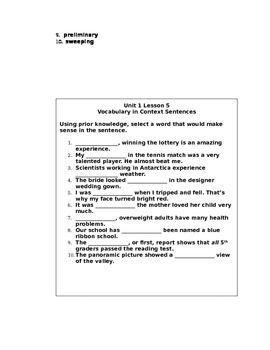 Context Sentences to Teach New Vocabulary
